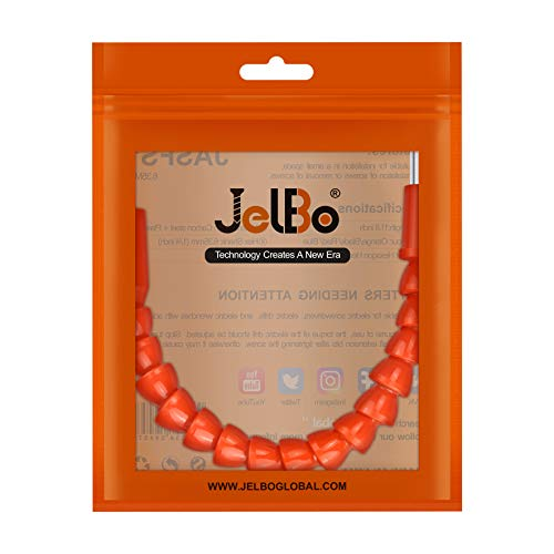 JelBo 11.8 Inch Flexible Shaft Extension Bits, 1/4'' Hex Shank Magnetic Screwdriver Bit Holder Connect Link, Flex Drive Quick Connect Adapter of Power Tools Accessories by Electric Drill(Orange)