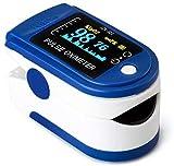 Oxímetro de dedo portátil - Oxímetro profesional - Pantalla LED de 4 direcciones - Ajustable - Medición SPO2 - Para uso doméstico, fitness y deportes extremos