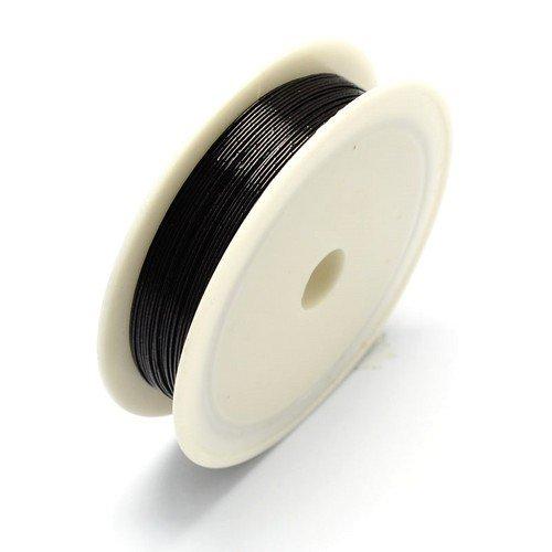 Fer Fil Noir Plaqué 7M Bobine 0.5mm Épais