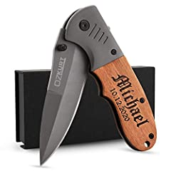 GIFT FOR HIM - FREE ENGRAVING - Click 'CUSTOMIZE NOW' to select your font and create a unique practical Father's Day, Birthday and Christmas gift with lasting utility and great keepsake. Engraved tactical knives make a great gift that can be used for...