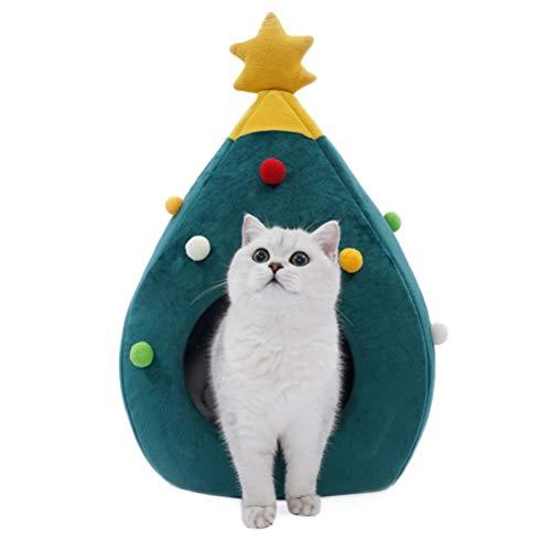 Heylas Mooie zachte kasjmier Warm Pet Nest hond kat bed inklapbaar, kerstboom kattenstrooi zwinger huisdiernest