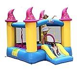 Hüpfburg Outdoor Spielgeräte Kinderspielburg Aufblasbares Trampolin 3~6 Jahre Alte Kinder (Color : Fuchsia, Size : 279 * 236 * 213cm)