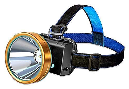 ZHJ DIRIGIÓ Faro Sensor de luz Fuerte Lámpara de minero Super Brillante Linterna montada en la Cabeza Lighting al Aire Libre Pesca Camping Camping Ciclismo Luz Linternas Frontales