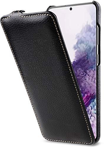 StilGut UltraSlim entwickelt für Samsung Galaxy S20 Hülle - Samsung Galaxy S20 Flip Case aus Leder, Klapphülle, Handyhülle, Lederhülle - Schwarz