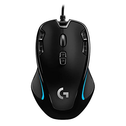 Logicool G ゲーミングマウス G300Sr ブラック usb 有線 82g 軽量 ゲームマウス 左右対称 多ボタン G300 国...