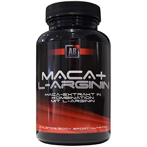 Athletics Body Arginin + Maca + Ginseng hochdosiert - für stark aktive Männer, 120 Kapseln, Arginin Maca Wurzel Extrakt 20:1, Ginsengwurzelextrakt 10:1