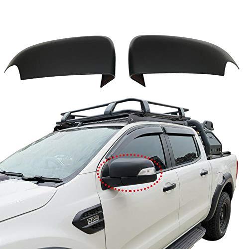 Espejo lateral negro mate para Ford Ranger Wildtrak T7 T8 2015-2020 PX MK2 MK3 XLT XL Limited 2 doble cabina