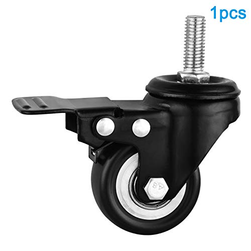 Herewegoo 1/2/4pcs bureaustoel wielen 2inches M10 Swivel Rubber universele Caster met rem