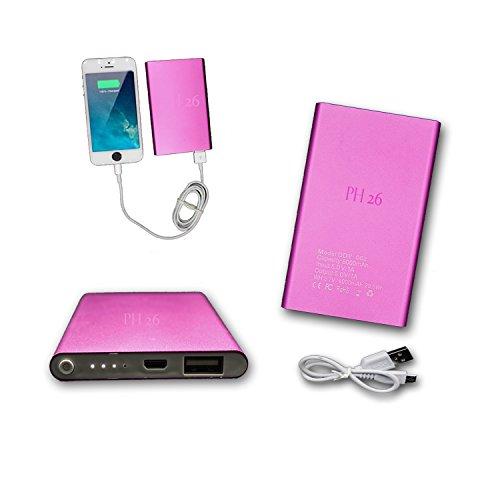 PH26® Externer USB-Akku, 8000 mAh, mit LED (Kabel im Lieferumfang enthalten) Power Bank Output Intelligent Quick Charge für ZTE Blade V7 Lite