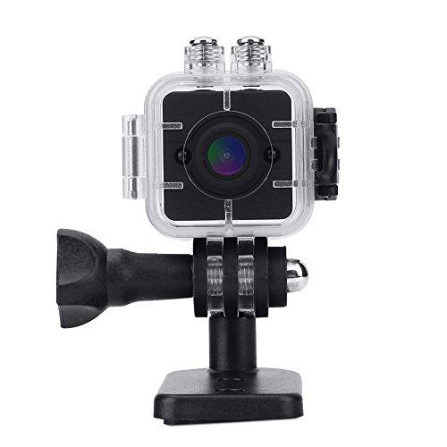 Mini 1080P HD Videocámara Infrarroja Portátil de Cámara de Acción Impermeable con Montajes