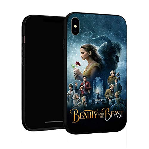 Funda para iPhone XR Funda básica de plástico para iPhone XR (La Bella y la Bestia)