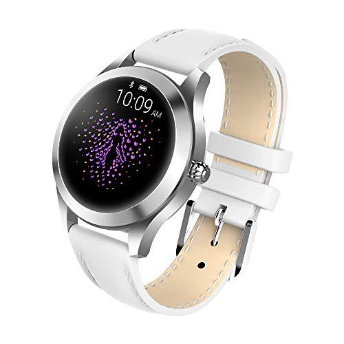 Smartwatch Damen, 1.04 Zoll Touch-Farbdisplay Fitness Tracker Wasserdicht IP68 Fitnessuhr Pulsuhren Sportuhr Schrittzähler Uhr Schlafmonitor für iOS Android Damen Herren (Weiß)