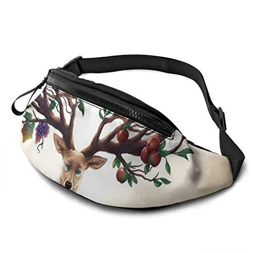 KKLDOGS Bolsa de cintura de pulpo sin costuras para hombres y mujeres, bolsa de cinturón de fitness, bolsillo ajustable, bolsa de cintura informal para entrenamiento, correr, caminar, viajar