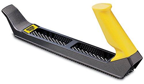 Stanley Surform Standardhobel (315 mm Länge, 255 mm Klingenlänge, fester Kunststoff-Handgriff, zum Hobeln, Feilen, Formen, Glätten, Abziehen und Raspeln) 5-21-296