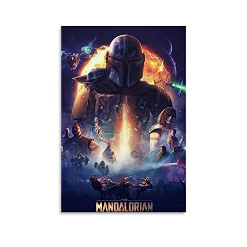 Ghychk The Mandalorian Star Wars Poster Kunstgemälde Modern gespannt und Kunstwerk...
