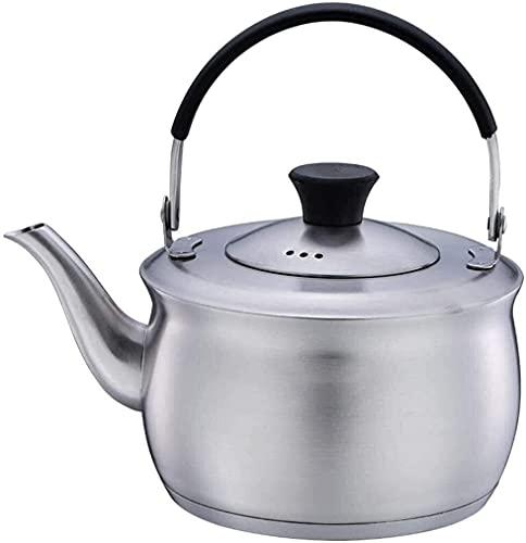 Riyyow Creatividad Tetera Gas Acero Inoxidable té tetos de té para Estufa Tapa Plegable Mango de té rápido Hucha silbido té Olas hervidor de hervidor