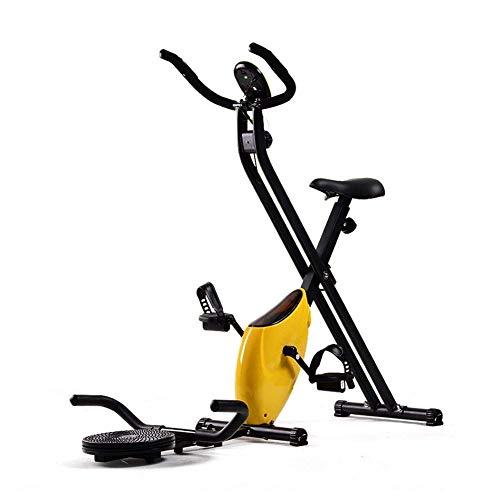 Bicicleta de giro para interiores Bicicleta de ciclismo para interiores Bicicletas de ejercicio estacionarias,bicicleta de giro Resistencia ajustable con monitor LCD, Ejercicio en casa Entrenamient