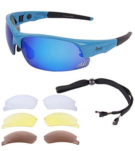Rapid Eyewear GAFAS DE SOL DE CICLISMO 'Edge Blue Cycle' para Correr,...