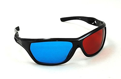 ISO TRADE 3D Brille Rot Blau Cyan Anaglyph Kino Glasses Brillen Filme TV PC 769