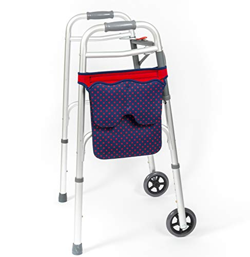 SCOOT Tasche für Gehhilfen und Rollator (Rote Punkte)