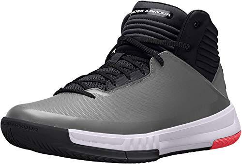Under Armour Ua Lockdown 2, Zapatos de Baloncesto, Hombre, Gris (Graphite 101), 42.5 EU