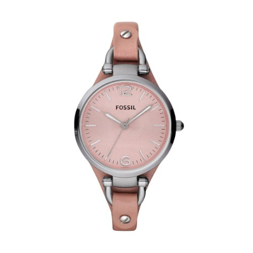 Fossil Georgia Pink Leather Ladies Watch ES3076: Watches