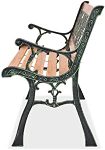 Strong Wooden 3 Seater Garden Outdoor Park Patio Bench Cast Iron Legs Beautiful Design UK Seller