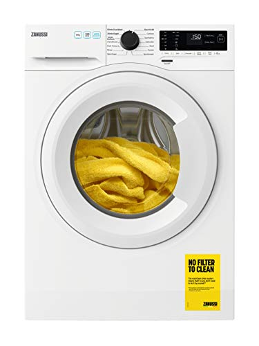 Zanussi ZWF143A2PW Freestanding Washing Machine, Quick wash, Easy Iron, 15 Programs, 10kg Load, 1400rpm Spin, Width 60cm, White [Energy Class A+++]