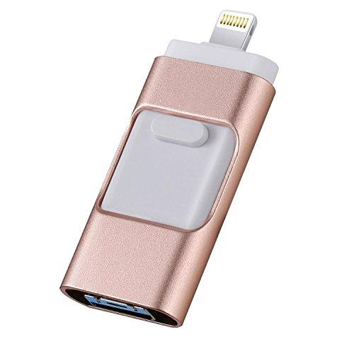 128 GB/256 GB/512 GB memorias USB Flash Drive para iPhone Jump Drive, memoria externa Micro USB Pen Drive rosa 128 GB