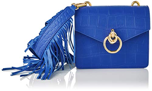 Pinko, Lovelink-Mini top handle croco para Mujer, G54_azul Luz, Talla única