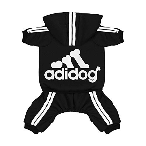 N\C Pet Four-Legged Clothes,Dog Hoodie Winter Pet Dog Clothes for Winter Sweatshirt French Bulldog Warm Clothing