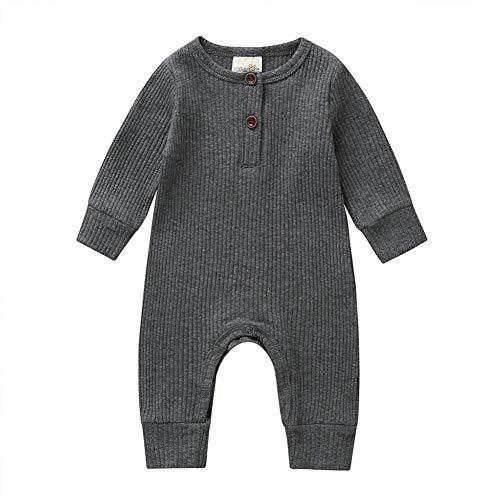 Pyjama Grenouillère en Cotton Bébé Garçon Automne Toddler Garçons Filles Barboteuses À Manches Longues Coton Solaire Combinaison O-Cou, Combinaison Tenues Enfants L'automne Pyjamas