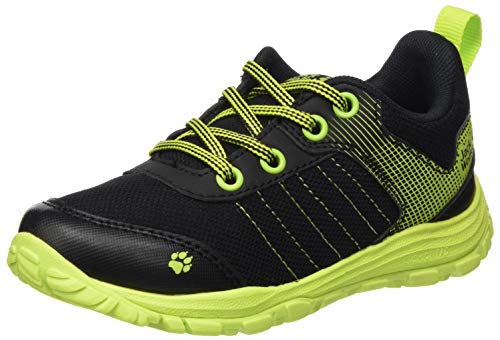 Jack Wolfskin Unisex Cascade Low K Cross-Trainer, Schwarz (Black/Lime 6084), 38 EU