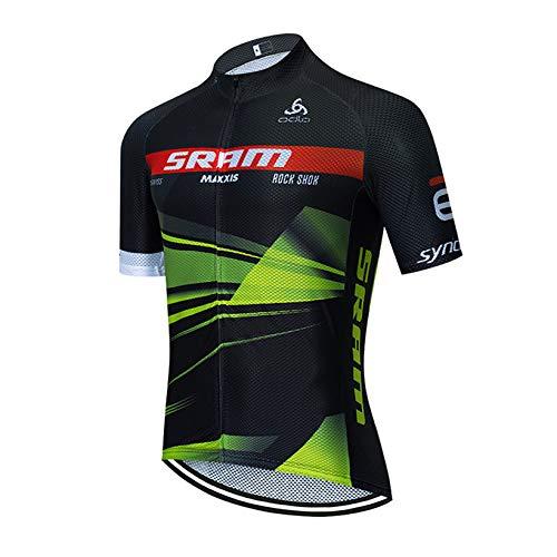 Bike Cyclisme Jersey Hommes, Vélo De Route À Séchage Rapide À Manches Courtes Respirant