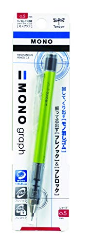 Tombow Mono Graph Shaker Mechanical Pencil 0.5mm, Lime Green Body, R3 (SH-MG51)