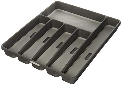 Madesmart 29606 Bandeja para cubiertos de 6 compartimentos, Granite, Grande (16' x 12.9' x 1.8')