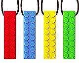 Xiangmall 5 Piezas Collar Mordedor Bebe Collar de Masticaci/ón Sensorial L/ápiz Topper Silicona Masticar Juguetes para Autismo ADHD ADD Mordedor de Silicona para Beb/és