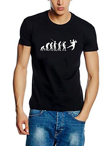 Coole-Fun-T-Shirts T-Shirt Handball evolution, schwarz, XL, 10627_schwarz_GR.XL