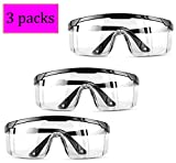 3 Packs in Package! One size fits all. Super comfortable protective glasses, lightweight and durable Highly durable with clear plastic made for excellent visibility and protection Premium strong, impact-resistant Fashional looking safety glasses offe...