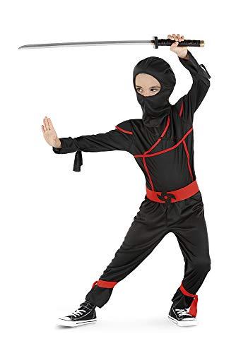 Rubies Costume da ninja, colore nero, rosso, taglia L (S8820-L)