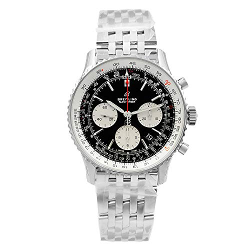 Breitling Navitimer 1 Steel Black Dial Automatic Mens Watch AB012121/BG75-450A