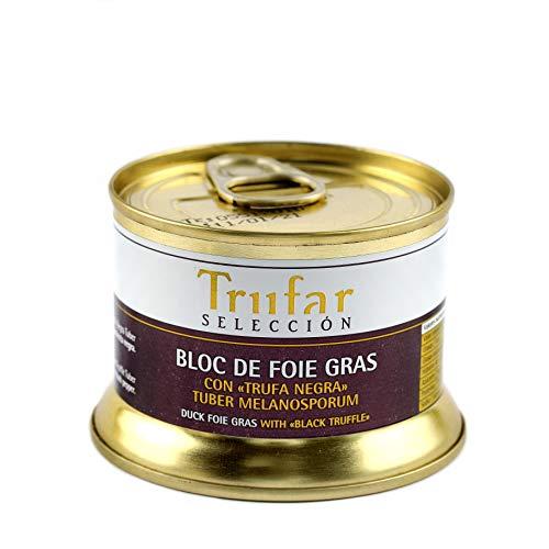Trufar Selección - Bloc de Foie Gras de Pato con Trufa Negra Tuber Melanosporum de Teruel - Libre de aditivos - 130g - Calidad Gourmet
