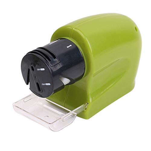 Elektrische messenslijper Gemotoriseerde messenslijper Roterende slijpsteen (Groen)
