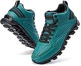 BRONAX Scarpe da Corsa Uomo Scarpa da Ginnastica per Multi Scarpe Invernali Sport Fitness Atletico Jogging all'aperto High Top Sneaker Verde 43 EU
