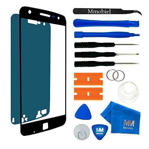 MMOBIEL Front Glas Reparatur Set kompatibel mit Motorola Moto Z 5.5 Inch (Schwarz) Bildschirm mit Werkzeug-Set