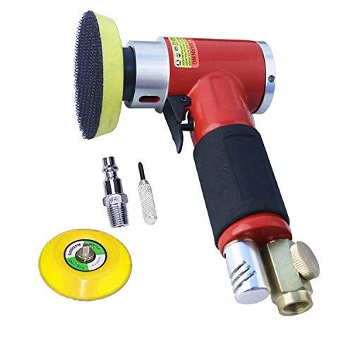 Leistungsstark Exzenterschleifer Druckluft Winkelschleifer Polierer Mini Gerade Lang Rot mit 50mm und 75mm Schleifteller