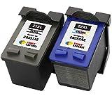 TONER EXPERTE Reemplazo para HP 21XL HP 22XL 2 Cartuchos de Tinta compatibles para HP Deskjet 3940, F2180, F2280, F380, F4180, D1460, D1530, D2360, D2460, Officejet 4315, PSC 1410   Alta Capacidad