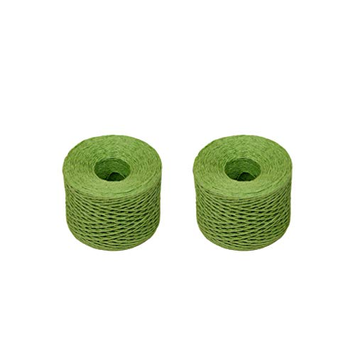 Healifty cinta de rafia artesanía de papel cinta cordel cuerda trenzada cuerda de papel...