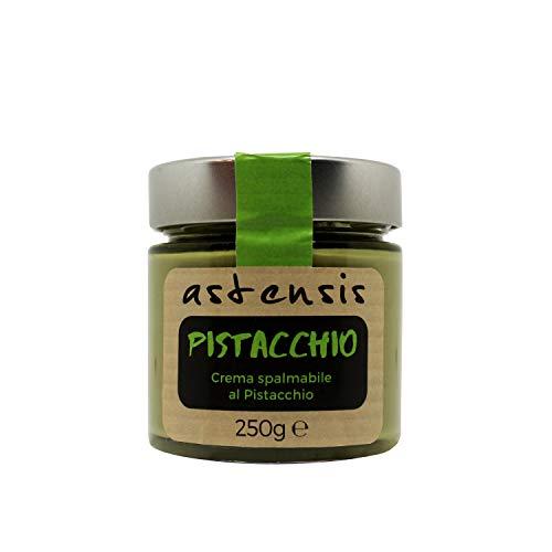 ASTENSIS Crema Spalmabile Gusto Pistacchio Artigianale - 250 Grammi - Senza Glutine - Adatta Per Dolci, Colazioni, Prodotti di Pasticceria