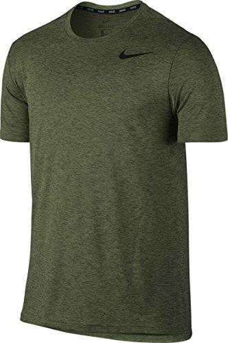 Nike Breathe Hyper Dry Tricot Homme, Vert (Vert Palme/Vert légion/Noir), L